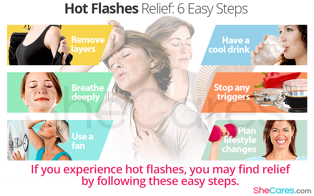 If you experience hot flashes, you may find relief by following these easy steps.