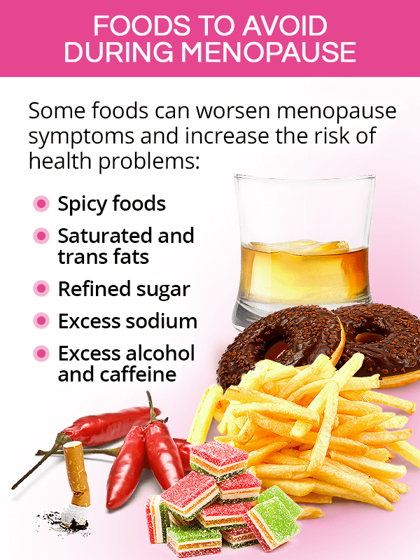 Foods to avoid during menopause