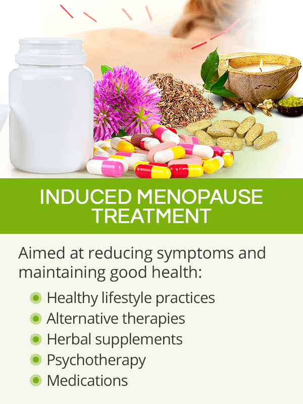 Induced menopause treatment