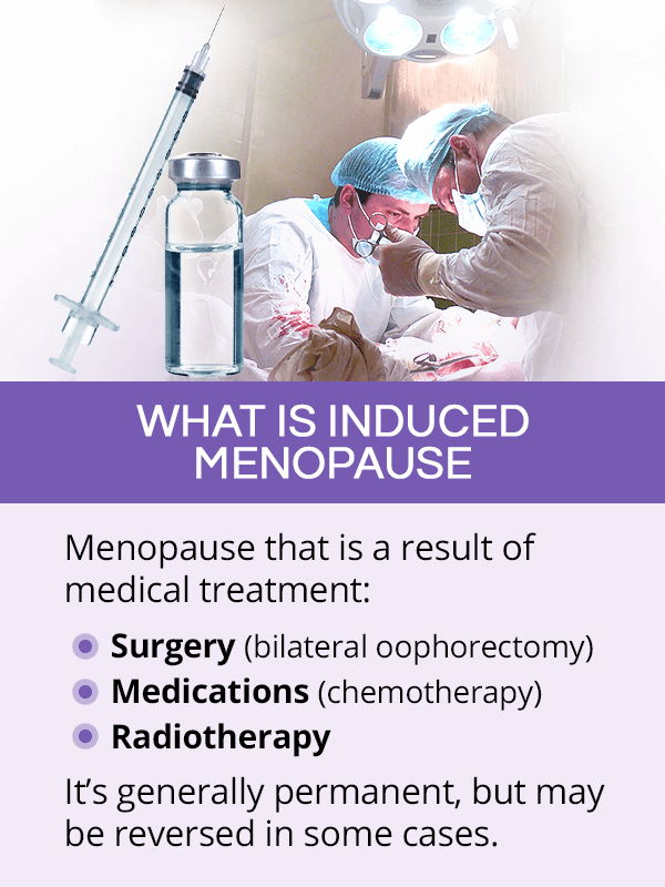 What is induced menopause