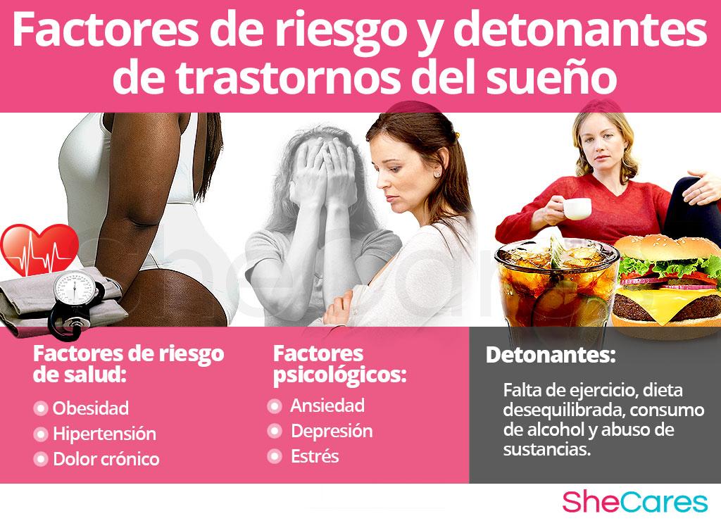 Factores de riesgo y detonantes de trastornos del sueño