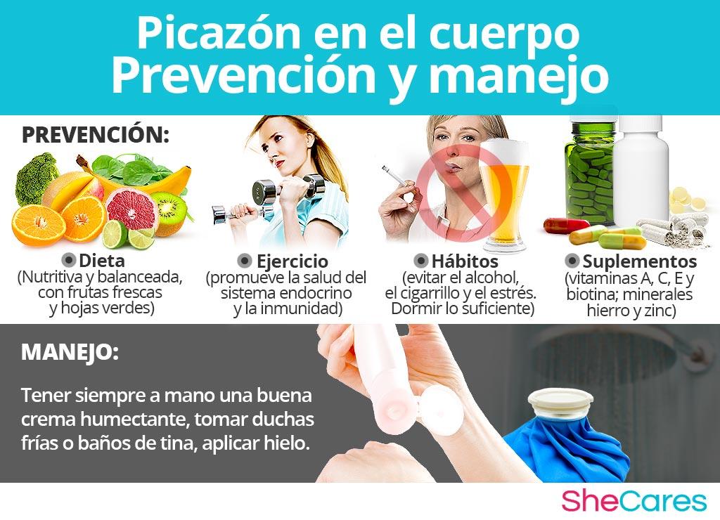 Picazón en el cuerpo - Prevención y manejo