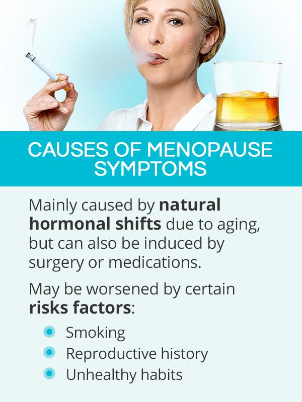 Causes of menopause symptoms