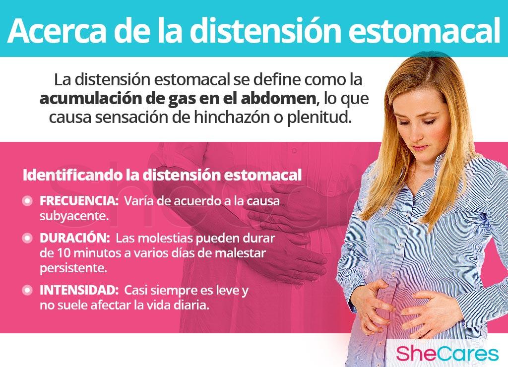 Acerca de la distensión estomacal