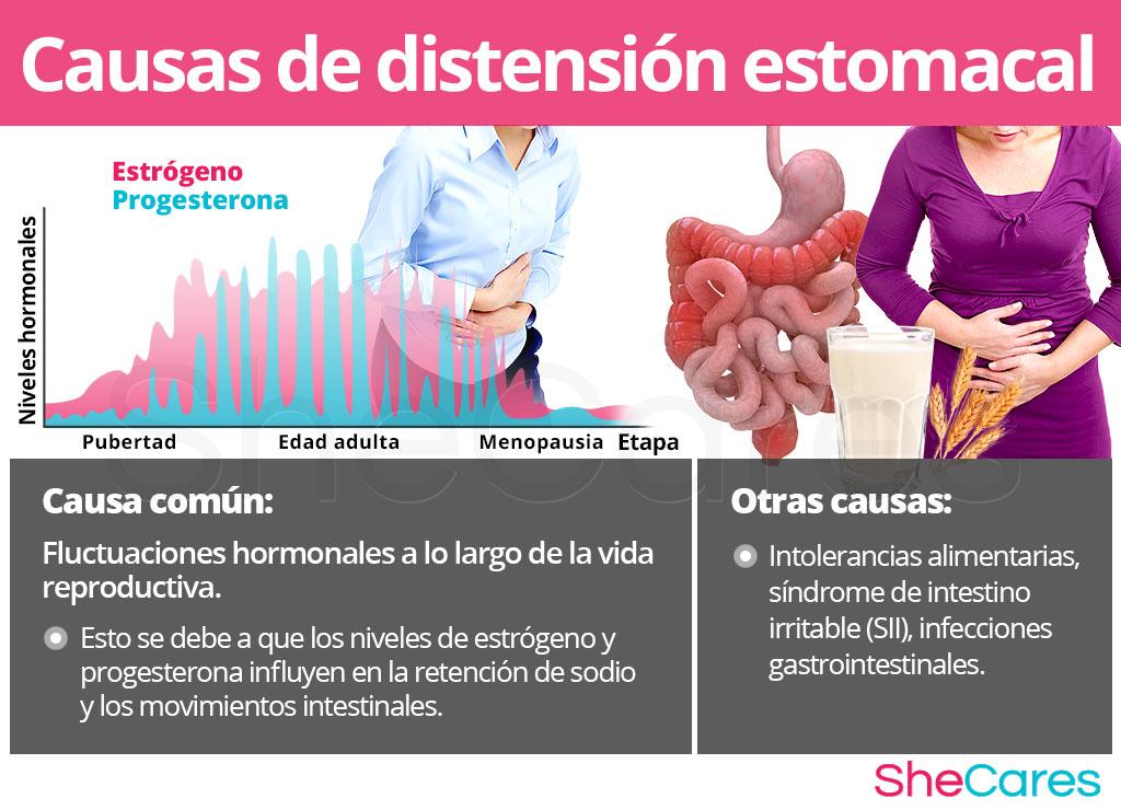 Causas de distensión estomacal o gases