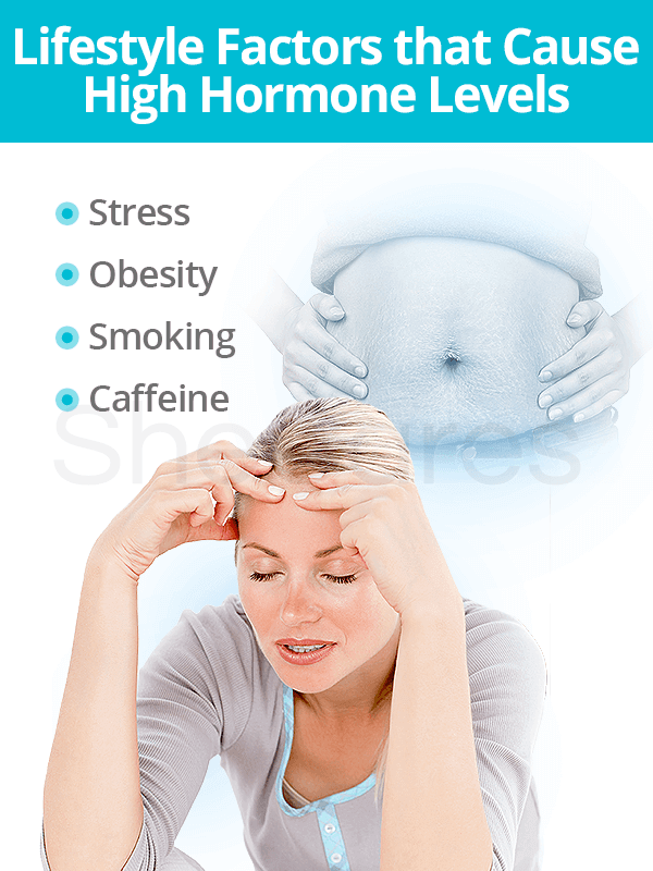 Lifestyle factors that cause high hormone levels