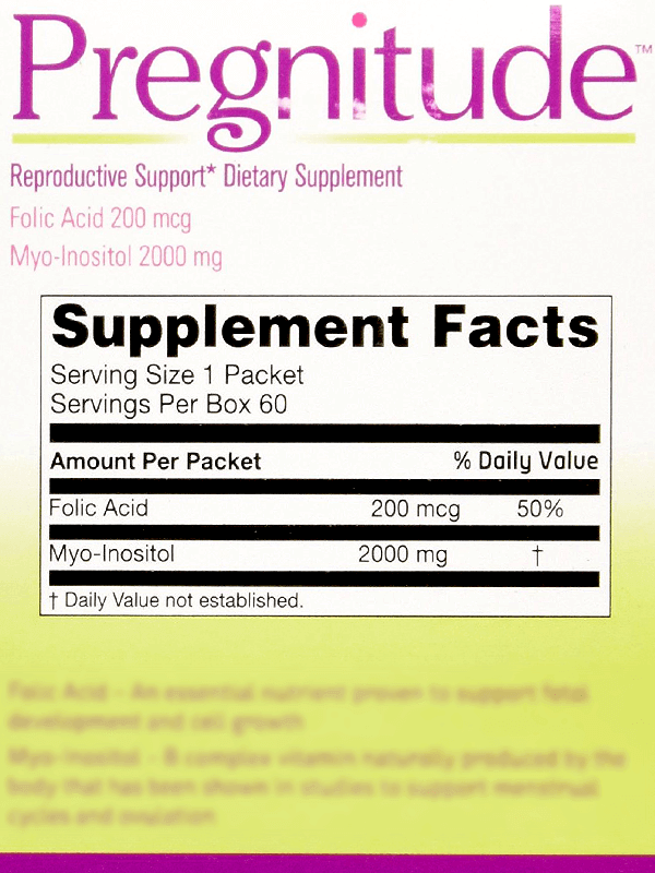 Pregnitude Supplement Ingredients