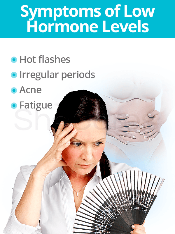 Symptoms of low hormone levels