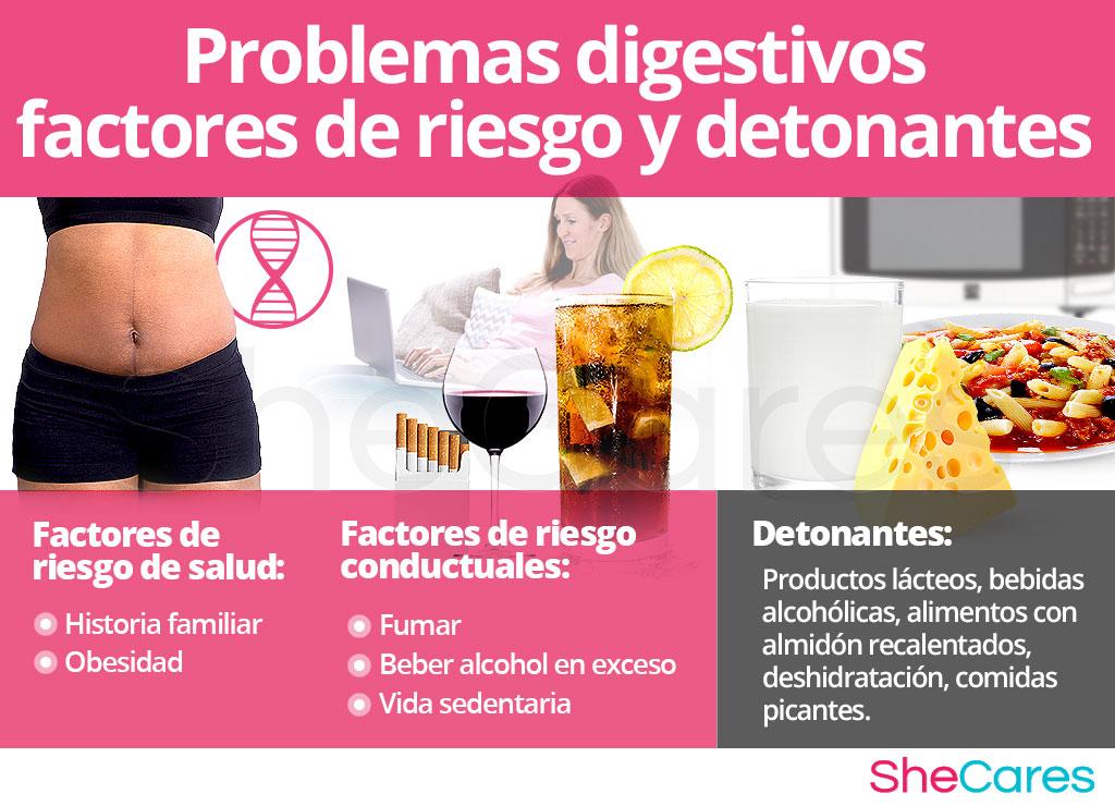 Problemas digestivos - Factores de riesgo y detonantes