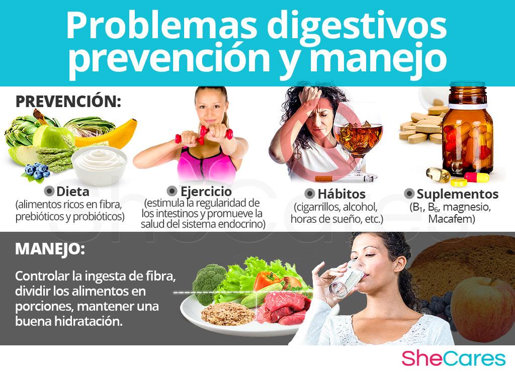 Prevención y manejo de los problemas digestivos